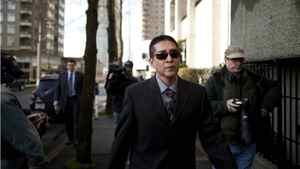 RCMP Cpl. Benjamin (Monty) Robinson arrives at the B.C. Supreme Court , Monday, Feb. 13, 2012.