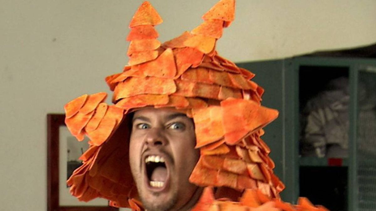 """This image provided by Doritos shows part of an ad submitted by one of six finalists in the fourth annual Doritos """"Crash the Super Bowl"""" challenge. (AP Photo/Doritos)"""