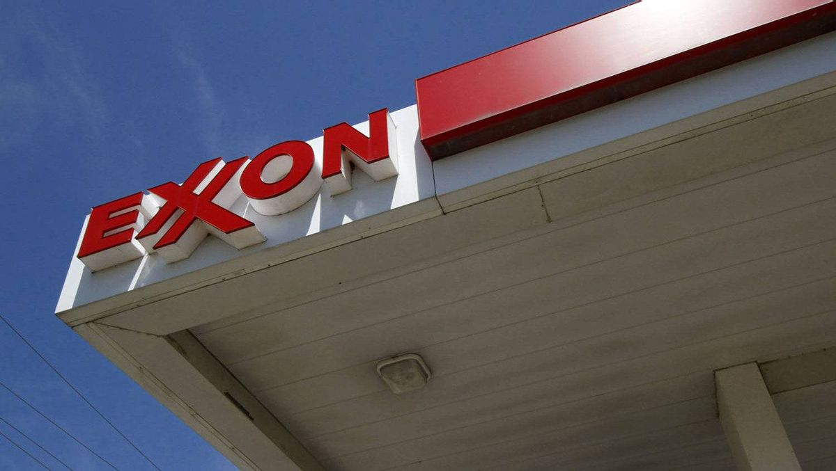 An Exxon sign is displayed atop a gas station in Carnegie, Pa, on Wednesday, July 27, 2011.