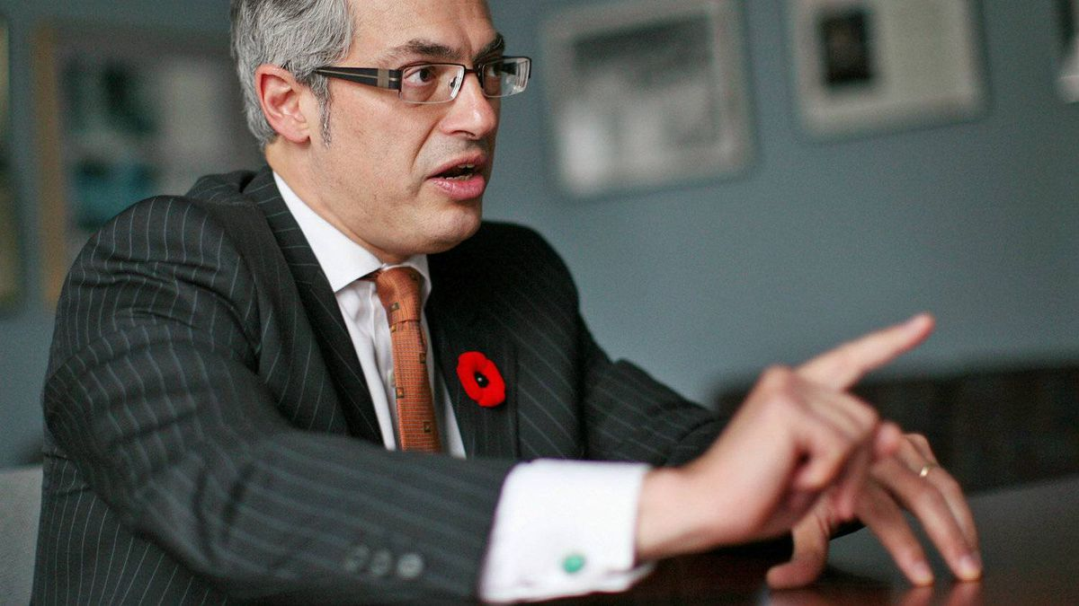 Industry Minister Tony Clement gives an interview at his Parliament Hill office on Nov. 5, 2010.