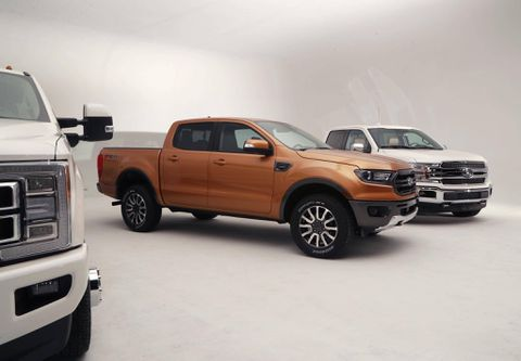 Ford Ranger photographed in the wild - and its colors are revealed