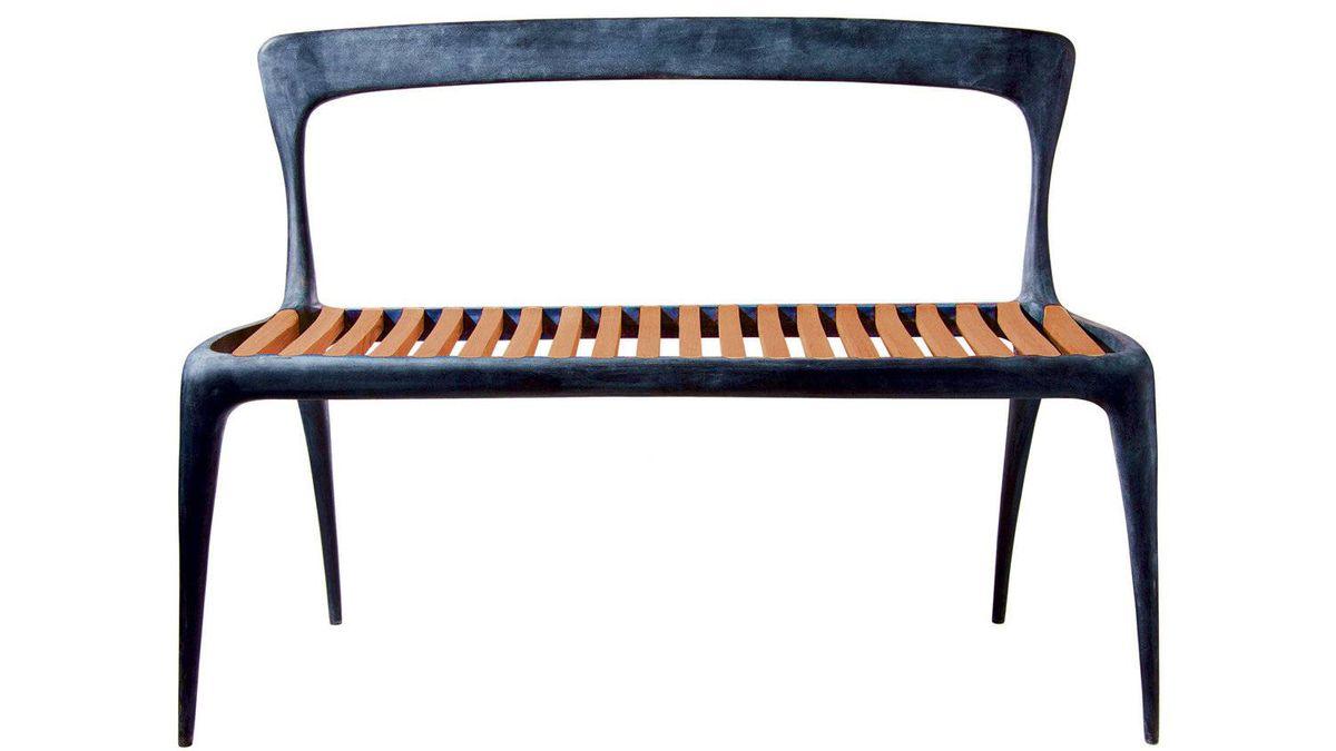 Teak and aluminum CAST bench, price on request through www.henryhalldesigns.com