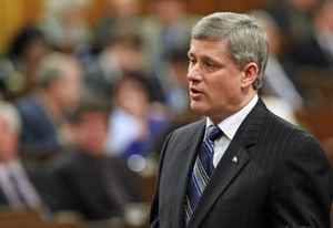 Prime Minister Stephen Harper speaks during Question Period in the House of Common on Tuesday, November 24, 2009.