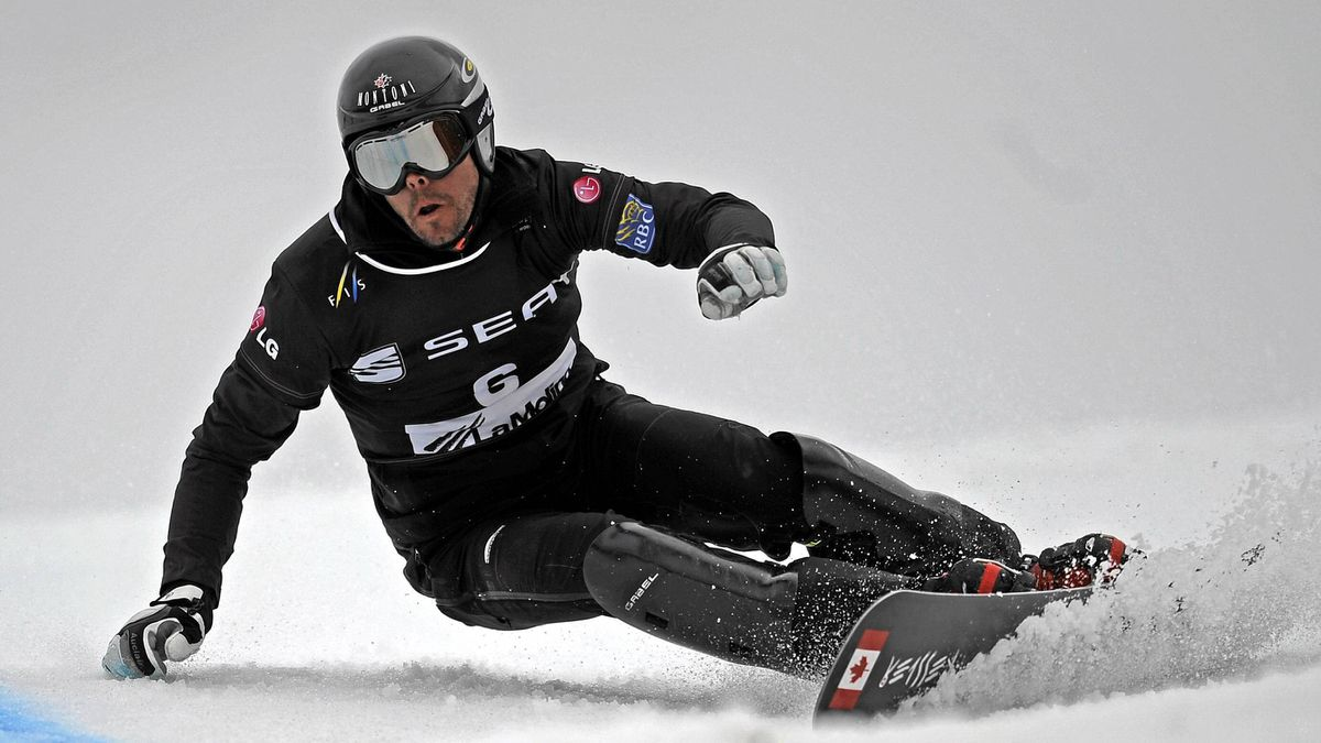 Canada's Jasey-Jay Anderson competes in the men's World Cup parallel giant slalom in La Molina.