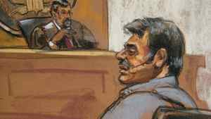 Manssor Arbabsiar is shown in this courtroom sketch during an appearance in a Manhattan courtroom in New York on Oct. 11, 2011.