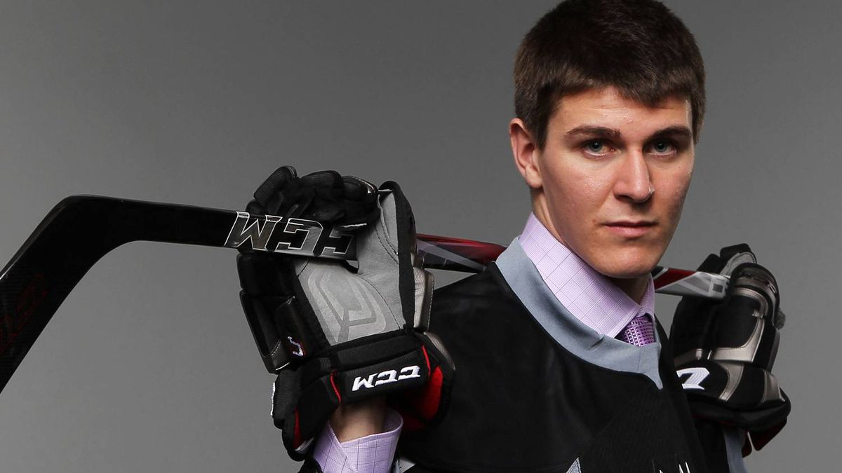 Seventh overall pick Mark Scheifele by the Winnipeg Jets poses for a portrait during day one of the 2011 NHL Entry Draft at Xcel Energy Center on June 24, 2011 in St Paul, Minnesota. (Photo by Nick Laham/Getty Images)