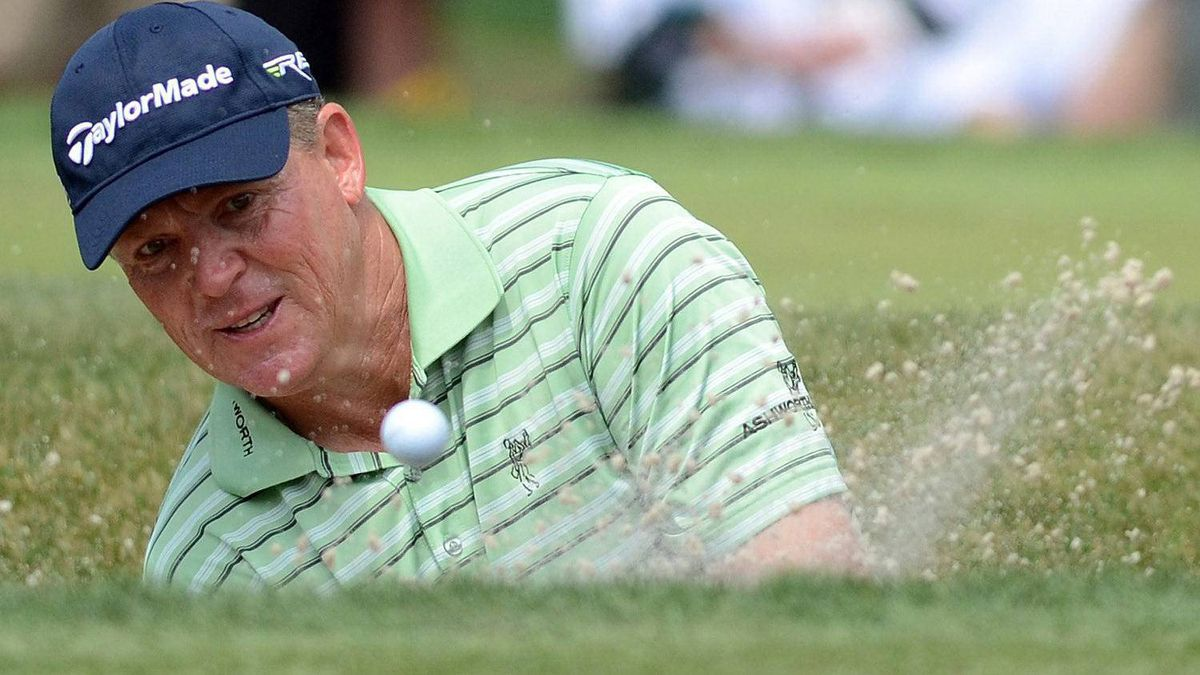 Michael Bradley chips onto the ninth green during the third round of the RBC Heritage golf tournament in Hilton Head Island, S.C., Saturday, April 14, 2012. Sweden's Carl Pettersson was crowned the winner after Sunday's final round. (AP Photo/The Island Packet, Jonathan Dyer)
