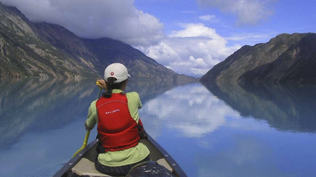 Paddling in the Yukon with Up North Adventures.