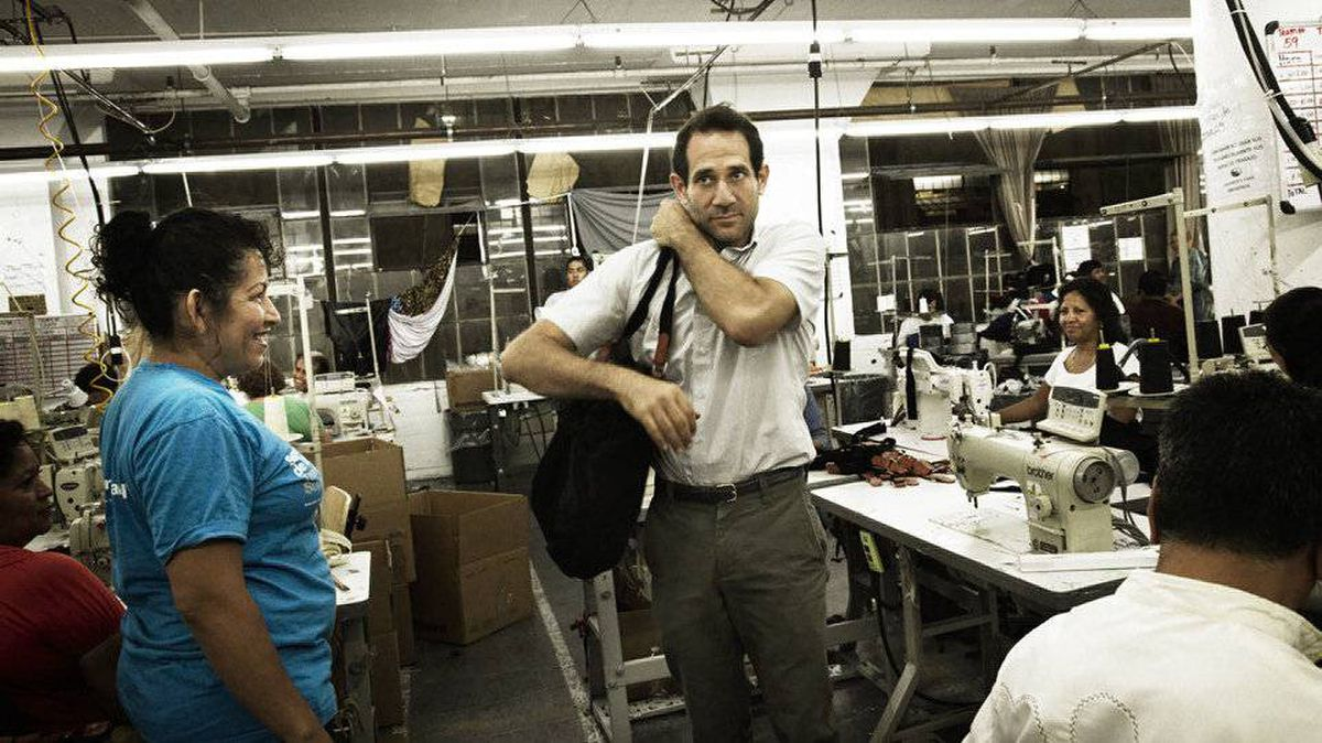 Dov Charney in the company's Los Angeles factory