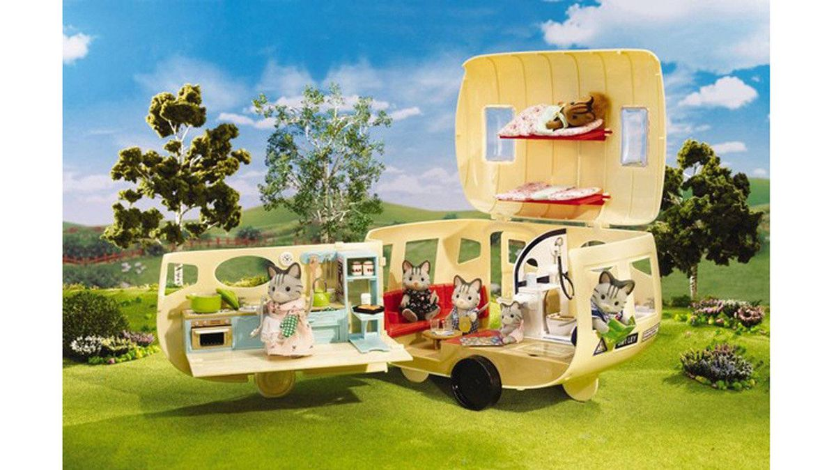 Caravan Family Camper by Calico Critters Normally the idea of cats in a trailer would be a nightmare. But this play set is the definition of adorable. The family of kittens even come with their own sleeping bags and board games. $69.99, intplay.com