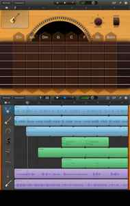 "Garageband This is another showoff app that demonstrates what the iPad can do. GarageBand is a portable collection of musical instruments you play by touch, plus a full-featured recording studio. Play tunes, record them, mix them, and share them, all on the iPad. Beginners, especially kids, will enjoy the ""Smart Instruments"" that make you sound like a pro even if you can't play a note. Use the built-in microphone or a real guitar to record your own music, played through classic amps and stompbox effects. GarageBand is now a universal app, so you get a version that works for both iPad or iPhone / iPod touch for just $4.99. (apple.com/apps/garageband/)"