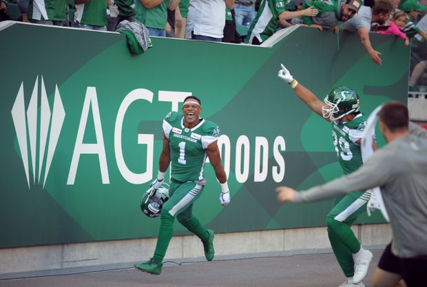 Cody Fajardo throws two touchdowns, Roughriders beat Lions 38-25