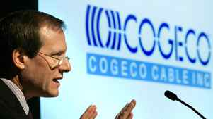 Cogeco Cable Inc. President and CEO Louis Audet addresses the Montreal-based cable and internet company's 2004 annual general meeting.