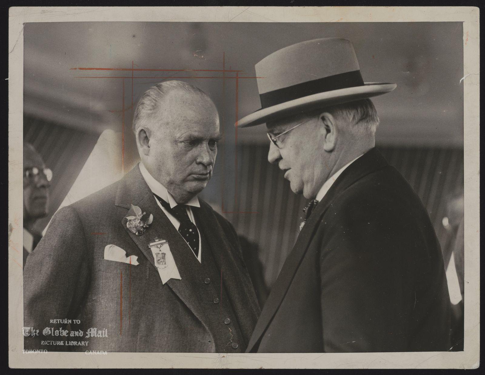 RICHARD B. BENNETT (Historical) R.B. Bennett Prime Minister of Canada.