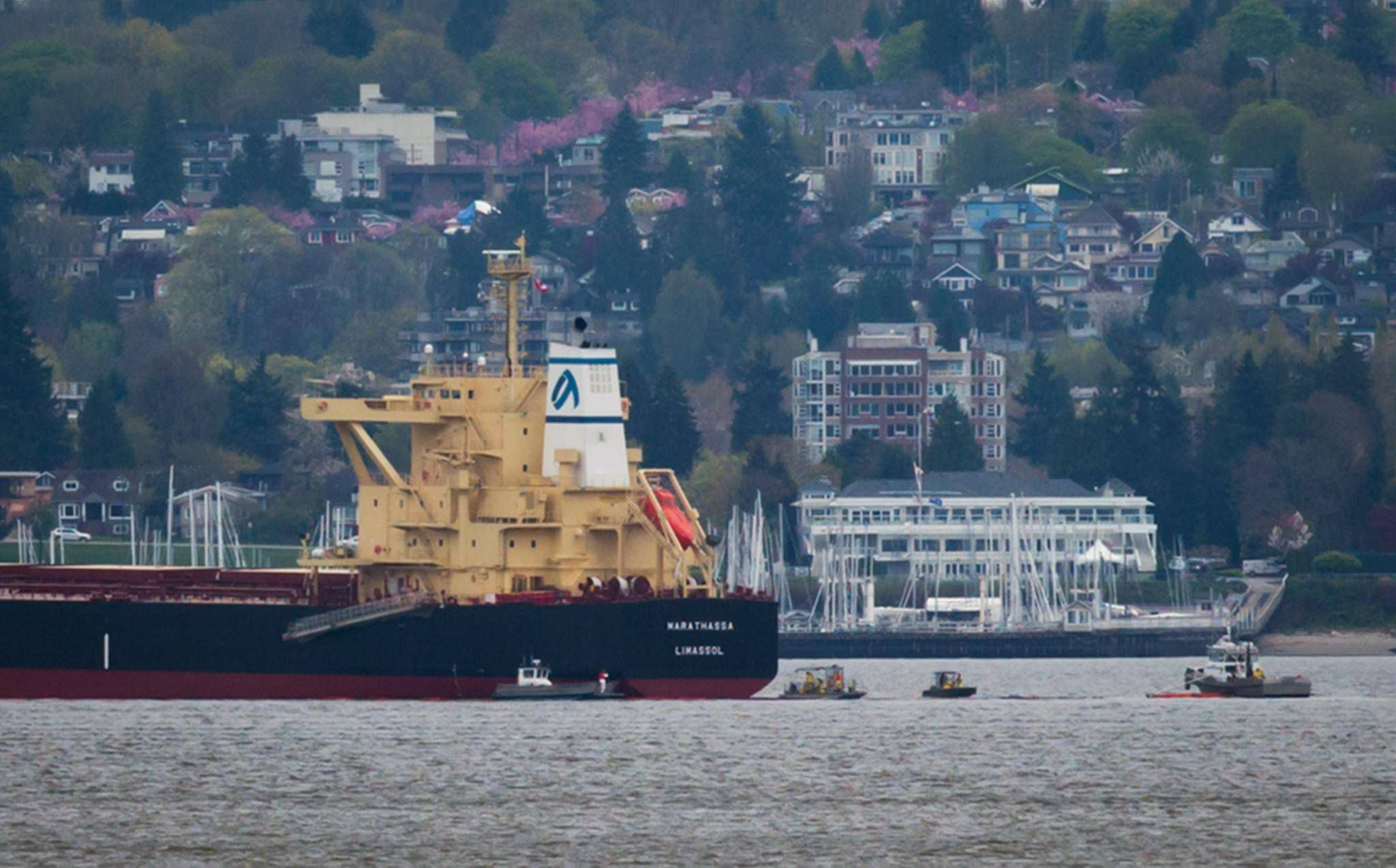 Owner of MV Marathassa charged for 2015 oil spill in Vancouver's
