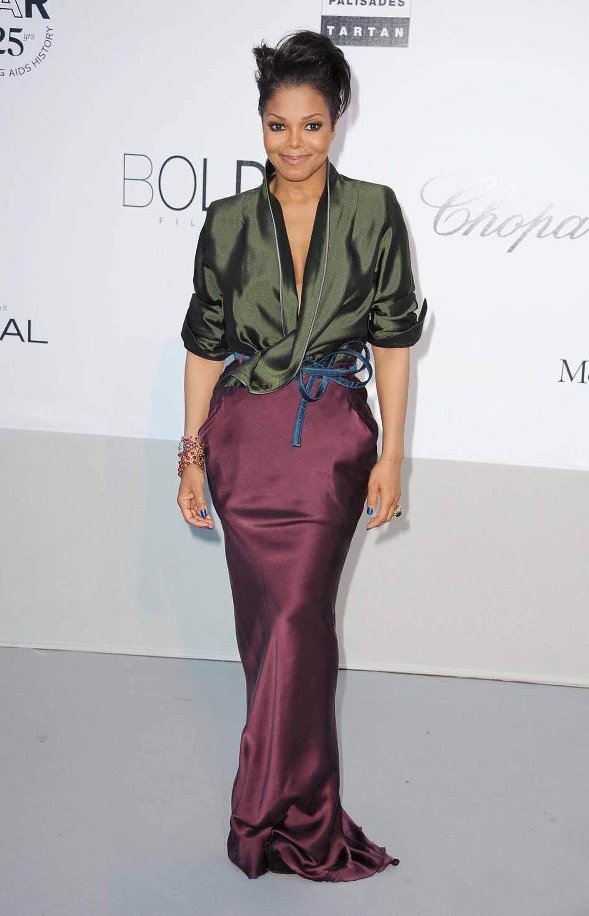 Janet Jackson attends amfAR's Cinema Against AIDS Gala at the Cannes Film Festival on Thursday.