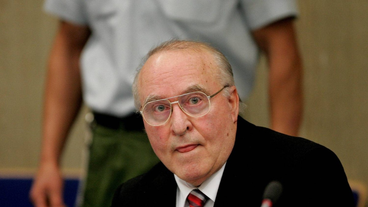 A November, 2005, file photo shows Ernst Zundel in a court in Mannheim, Germany. Michael Probst/AP