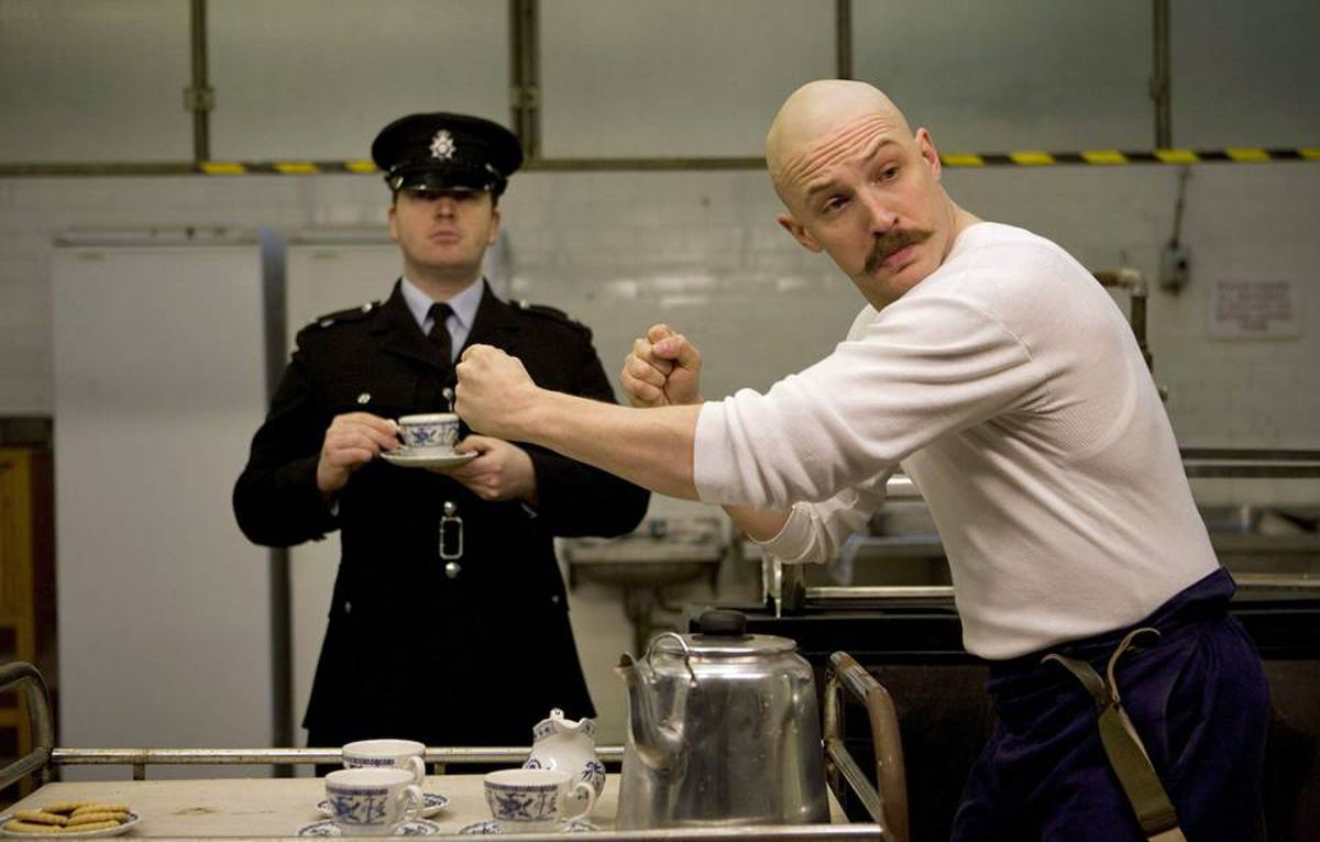 Tom Hardy's tour de force in the title role is what keeps us watching. Unfortunately, the filmmaker reveals more about himself than he does about prisoner 'Charles Bronson.'