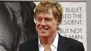 "Robert Redford arrives at Ford's Theatre in Washington last month for the premiere of his film ""The Conspirator."""