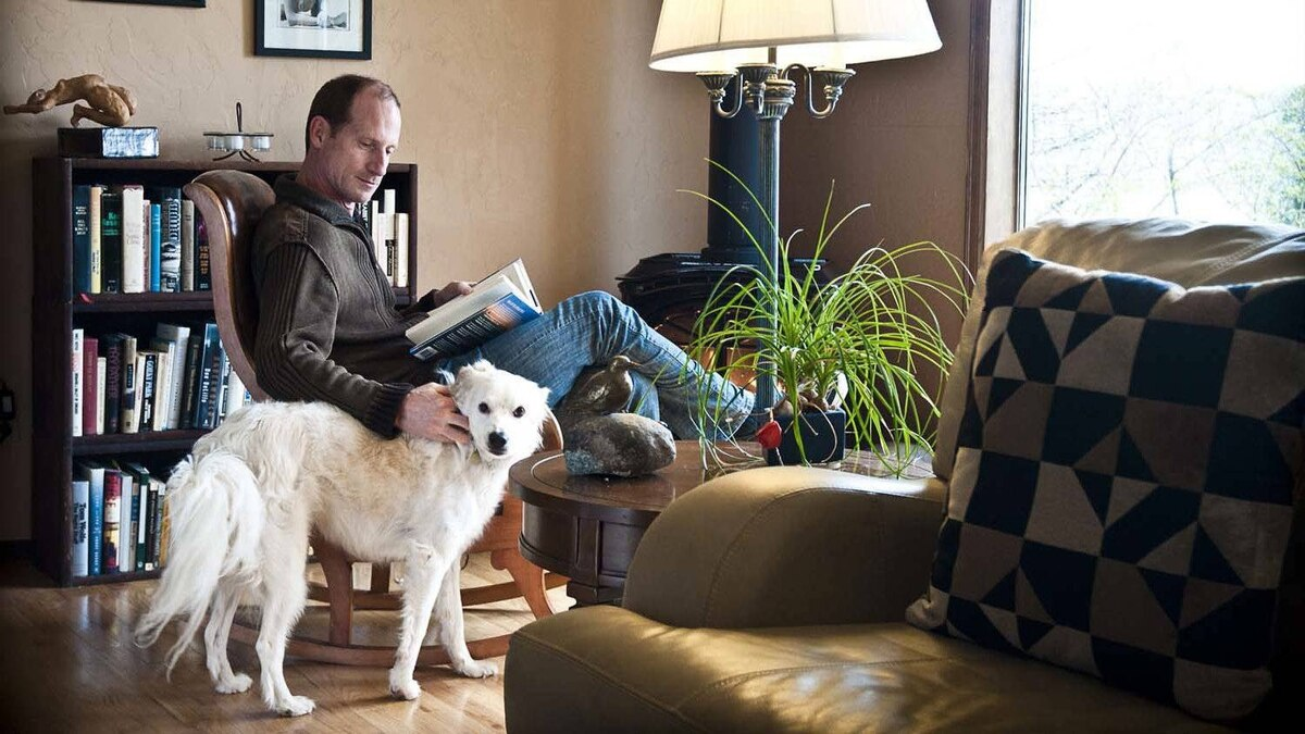 James Lynch and his dog, Theo