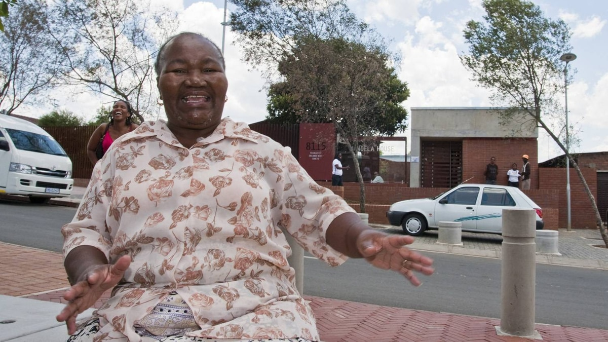 Selina Mkhabela lives across from Nelson Mandela's former house on Vilakazi Street in Soweto. Erin Conway-Smith for The Globe and Mail