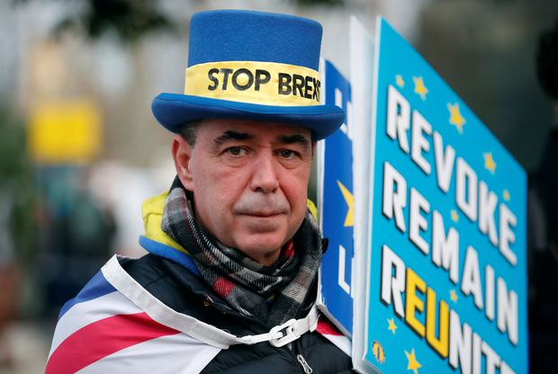 Man referred to as 'Mr Stop Brexit' vows to continue his protests despite U.K. election results