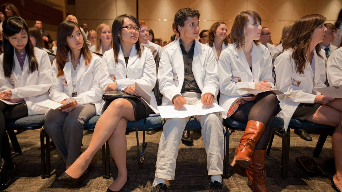 Females make up the majority of doctors in training at McMaster University in Hamilton, Ont., which held its white coat ceremony for the class of 2013 Oct. 12, 2010.