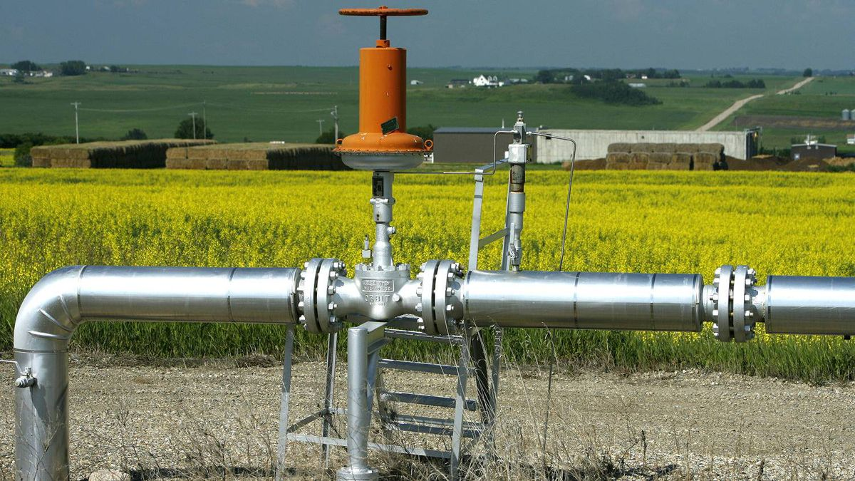 Natural gas pipeline near Crossfield, Alta. Natural gas for delivery in the second quarter has traded at barely more than $2 (U.S.), while the average of futures prices for the remainder of 2012 is $2.53. That's fully a third below the figure used to estimate reserves.