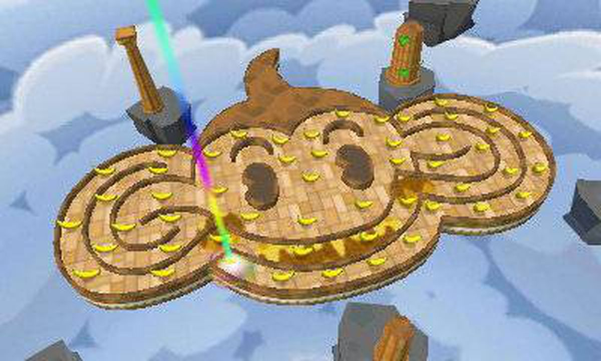 Super Monkey Ball 3D: Rolling a ball around the 3DS screen by tilting the display is a sure-fire way to lose the stereoscopic sweet spot and experience ghosting.