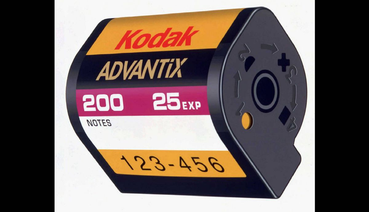 Kodak Advantix film which was introduced Thursday, Feb. 1, 1996. The Advanced Photo System was a new drop-in film cartridge, which became available along with specially designed cameras April 22, 1996.