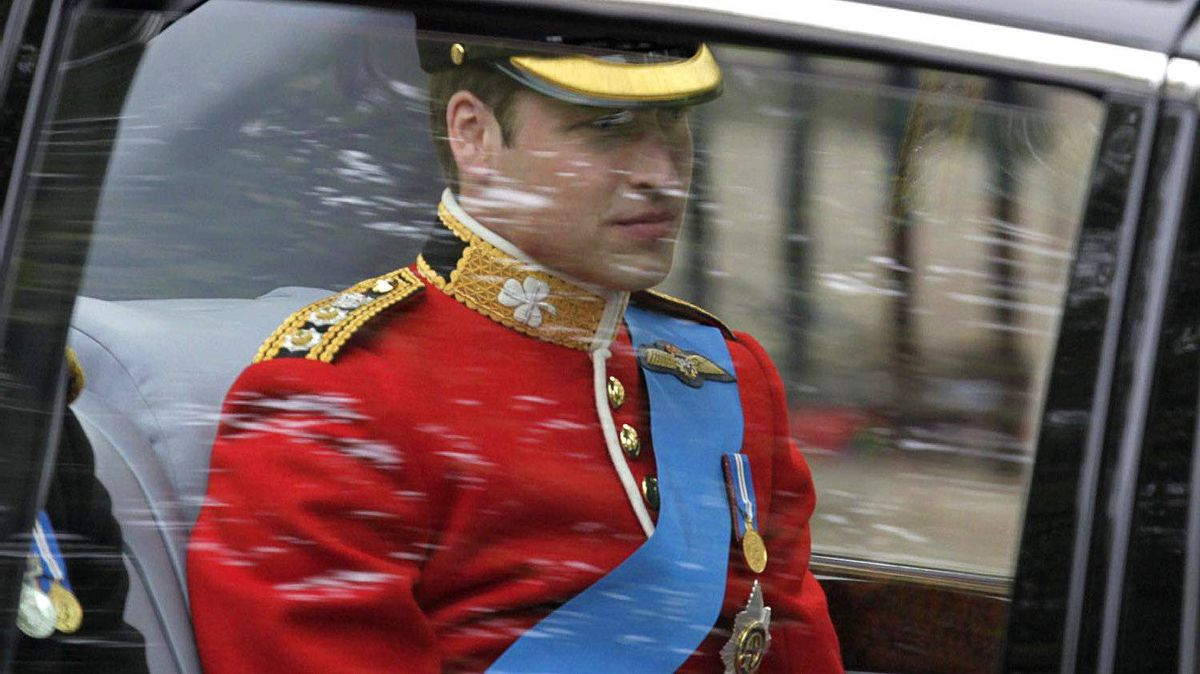 Britain's Prince William is on his way to Westminster Abbey at the Royal Wedding in London Friday, April, 29, 2011.