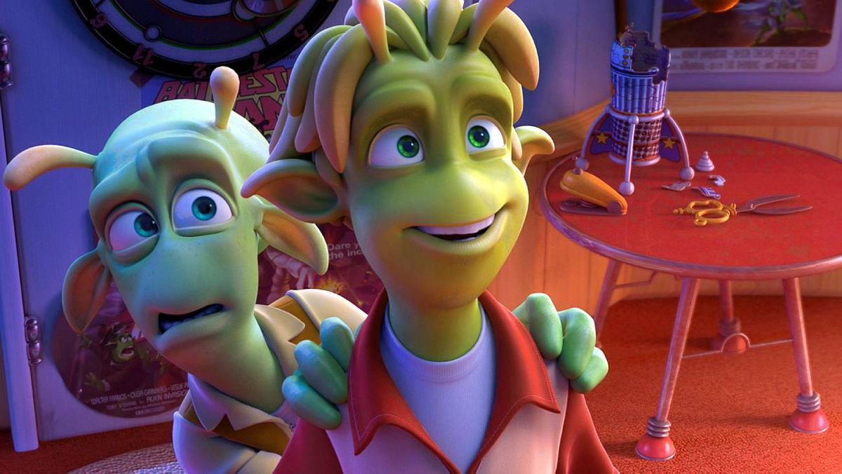 Skiff (voiced by Seann William Scott) and Lem (voiced by Justin Long) star in PLANET 51, an Alliance Films' release.