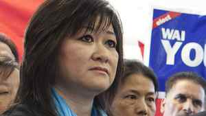 Conservative candidate Wai Young in her campaign office in Vancouver, April 6, 2011.