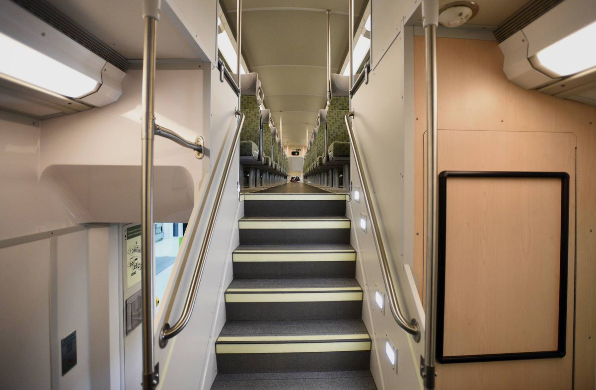 first look at ontario 39 s new go transit trains the globe and mail. Black Bedroom Furniture Sets. Home Design Ideas
