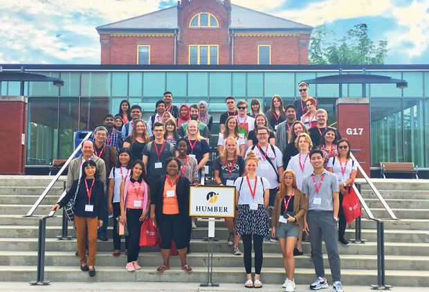 """In 2019, Humber's inaugural Global Summer School welcomed 159 participants (including 85 Humber students) from Canada and 23 different countries. """"The applied courses focused on addressing global and societal challenges,"""" says Rebecca Fitzgerald, associate director, International Mobility and Partnerships at Humber. """"The participants worked together on applied projects. For example, intercultural and interdisciplinary teams created and pitched a social media strategy to a client and went to LinkedIn headquarters. Others looked at the issues of food security, early childhood education, community policing, teaching effectiveness, leadership and sustainable development."""