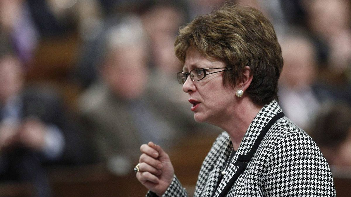 Human Resources Minister Diane Finley speaks during Question Period in the House of Commons on Feb. 2, 2012.