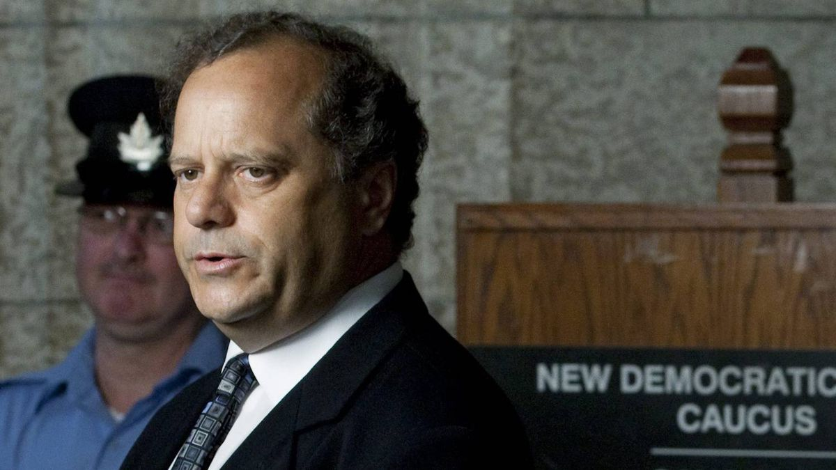 Party president Brian Topp speaks to reporters before an NDP caucus meeting in Ottawa on July 27, 2011.