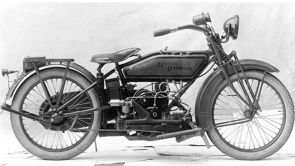 Harley-Davidson produced the Sport model between 1919 and 1923.