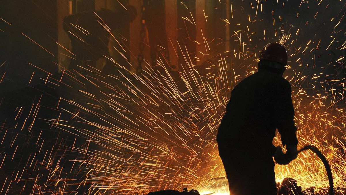 A Chinese steel manufacturing plant in Hefei, Anhui province: Steel consultancy Meps said double-digit growth in Chinese production would be out of question this year and forecast a 7.5-per-cent increase in Chinese apparent consumption, down from about 10 per cent last year.