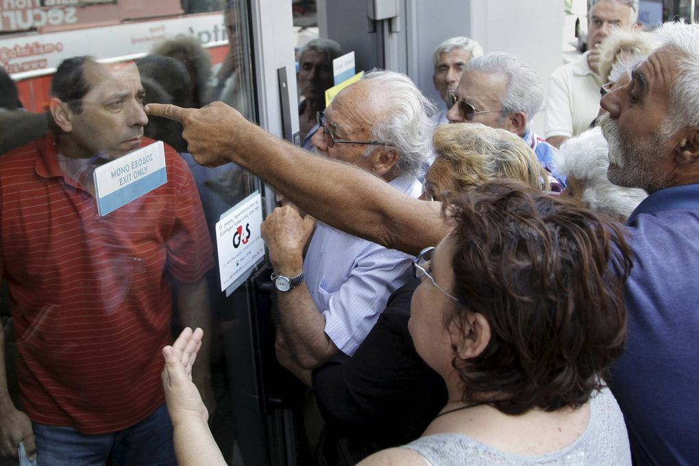 Desperation and anger prevail as Greek banks close