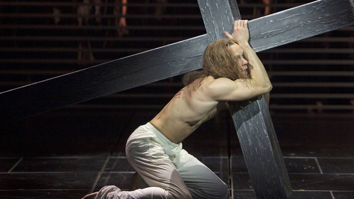 Paul Nolan as Jesus in the Stratford Shakespeare Festival's production of esus Christ Superstar.