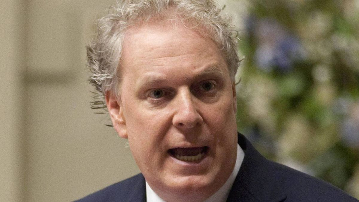 Quebec Premier Jean Charest responds to Opposition questions on his refusal to launch a public inquiry on corruption in the construcion industry Wednesday, September 21, 2011 at the legislature in Quebec City. (THE CANADIAN PRESS/Jacques Boissinot)