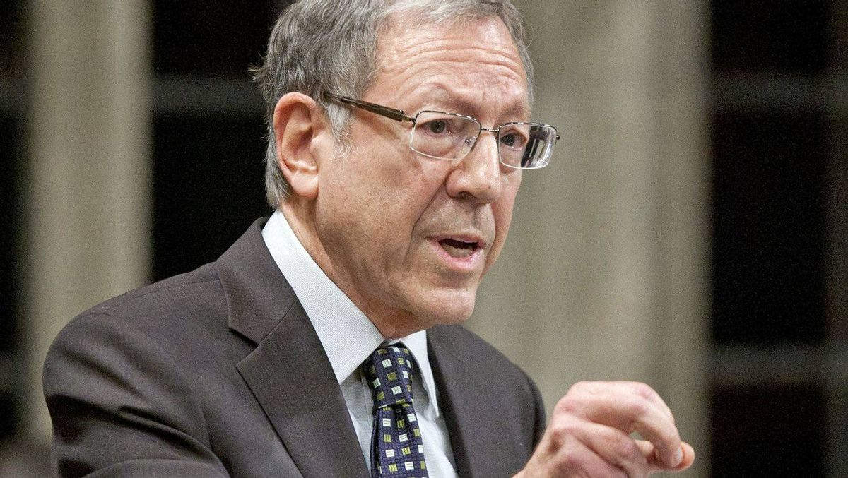 Liberal MP Irwin Cotler speaks during Question Period in the House of Commons on Dec. 15, 2011.