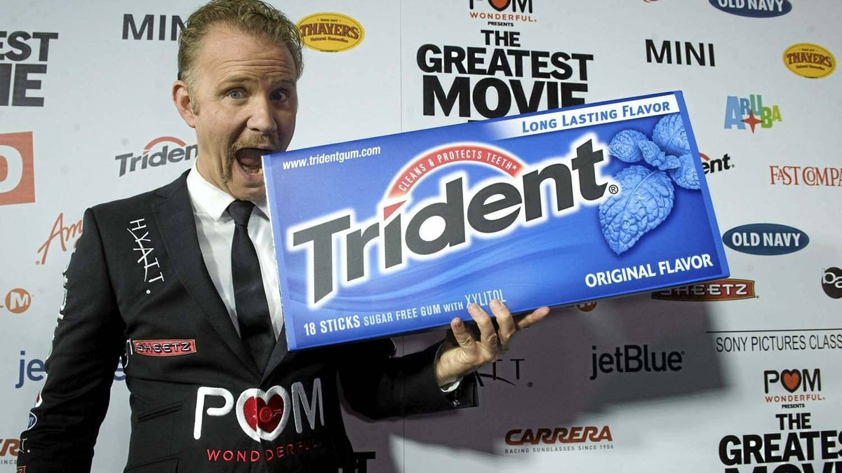 """Morgan Spurlock at the premiere of his new film """"The Greatest Movie Ever Sold"""" in Hollywood last week."""