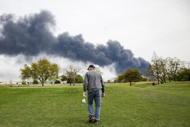 Houston petrochemical blazes rages as Texas expands air monitoring