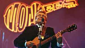 Davy Jones, lead singer of the sixties rock band The Monkees, performs at the Newcastle Arena in this March 7, 1997 file photo.