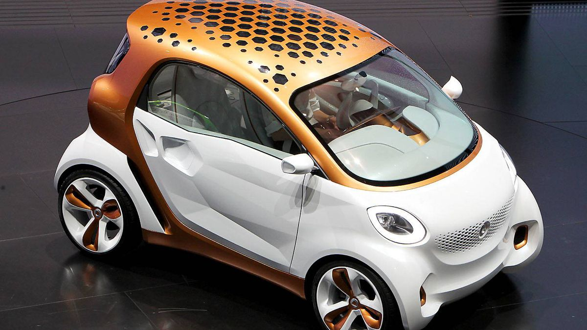 "Smart concept car ""forvision"" by German car maker Daimler AG."