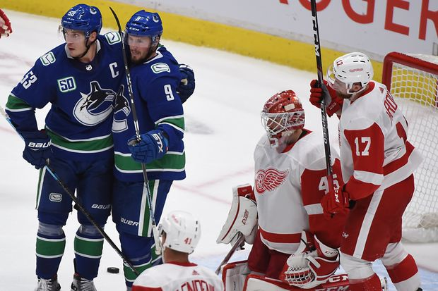 Trio of power-play goals boosts Vancouver Canucks to 5-1 win over Detroit Red Wings