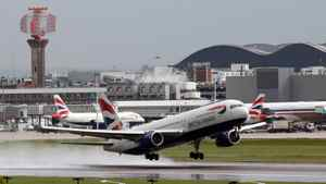 A British Airways aircraft takes off from Heathrow airport in London on April 20, 2012. Waiting times in queues at Heathrow in April have led to many complaints.