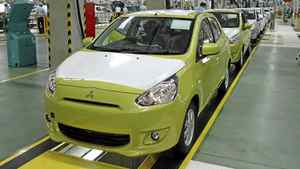 The Mitsubishi Mirage is being built in Thailand. __Credit: Mitsubishi